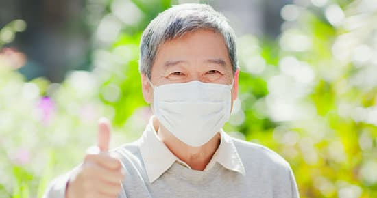 Old Man Thumbup With Mask